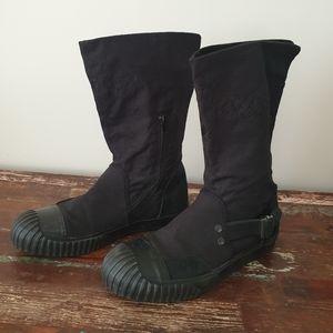G Star Raw Black Canvas Boots EUR 39 US 8